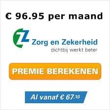basis premie zorgverzekering Zorg en Zekerheid 2014 zorgverzekeringen 2014 vergelijken Premie Zorg & Zekerheid zorgverzekering 2014, € 96.95 per maand